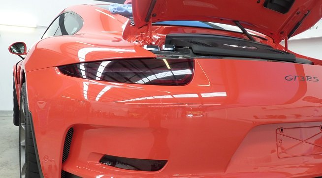 XPEL Tinted Tail Lights GT3RS Porsche