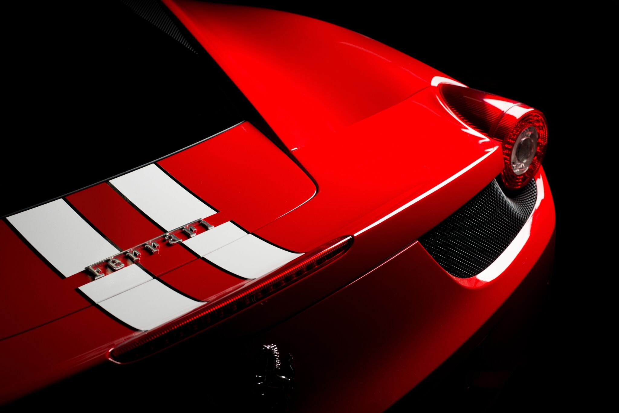 Ferrari 458 rear shot by Epic Images on their recent trip to the Winguard Studio.
