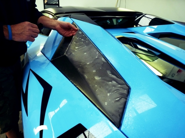 lamborghini aventador, sv, stone chip film, paint protection film, winguard, adelaide, matte paint, matt paint, car bra, XPEL, PPF