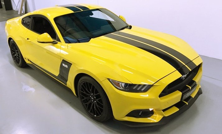 ford, mustang, gt, stone chip film, paint protection film, winguard, adelaide, matte paint, matt paint, car bra